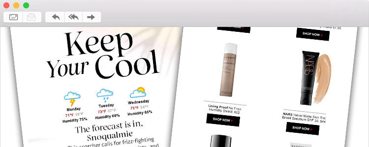 Sephora Weather Email Hero